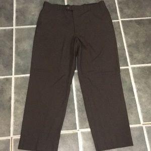 Adjustable flex waistband dress pants brown 42R
